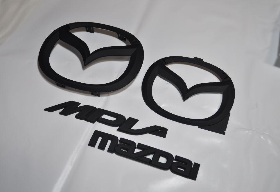 LY3P MPV マットブラックエンブレム(艶消し) 4点SET  純正/メッキ/艶消し/黒/セット/単品/車/車パーツ/カーパーツ/高品質/送料無料