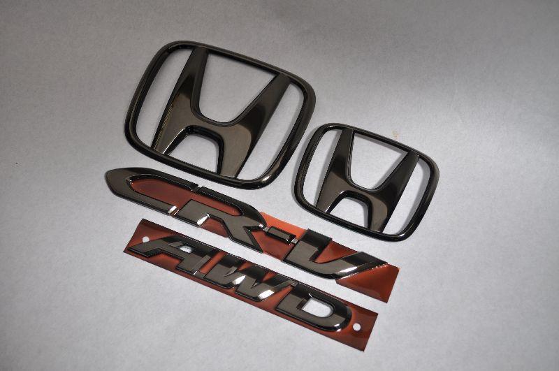 RM1系CRーV ブラックメッキエンブレム4点SET  純正/メッキ/カラーメッキ/セット/単品/車/車パーツ/カーパーツ/高品質/送料無料
