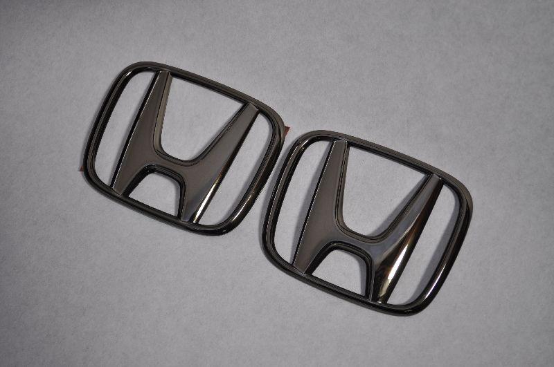 ZF1/2 CRーZ ブラックメッキエンブレムフロント/リアHマークSET  純正/メッキ/カラーメッキ/セット/単品/車/車パーツ/カーパーツ/高品質/送料無料