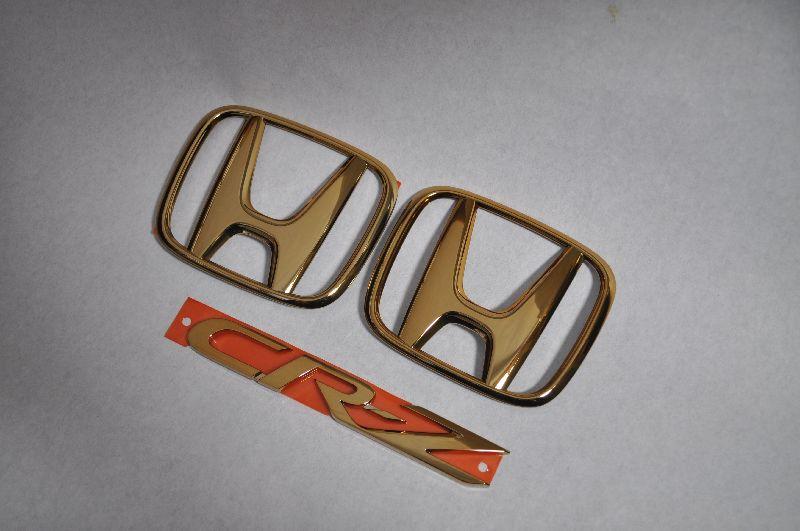 ZF1/2 CRーZ ゴールドメッキエンブレム3点SET  純正/メッキ/カラーメッキ/セット/単品/車/車パーツ/カーパーツ/高品質/送料無料