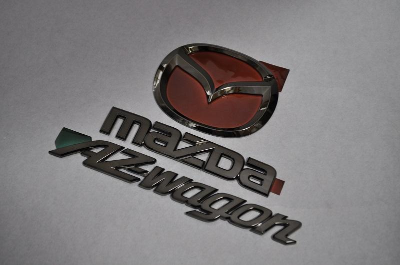 MJ23 AZ-ワゴン ブラックメッキエンブレムリア3点SET  純正/メッキ/カラーメッキ/セット/単品/車/車パーツ/カーパーツ/高品質/送料無料