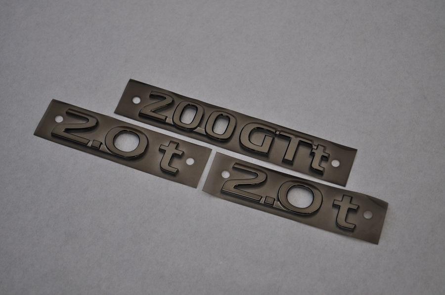 V37 スカイライン ZV37 ブラックメッキエンブレムリア3点SET  純正/メッキ/カラーメッキ/セット/単品/車/車パーツ/カーパーツ/高品質/送料無料