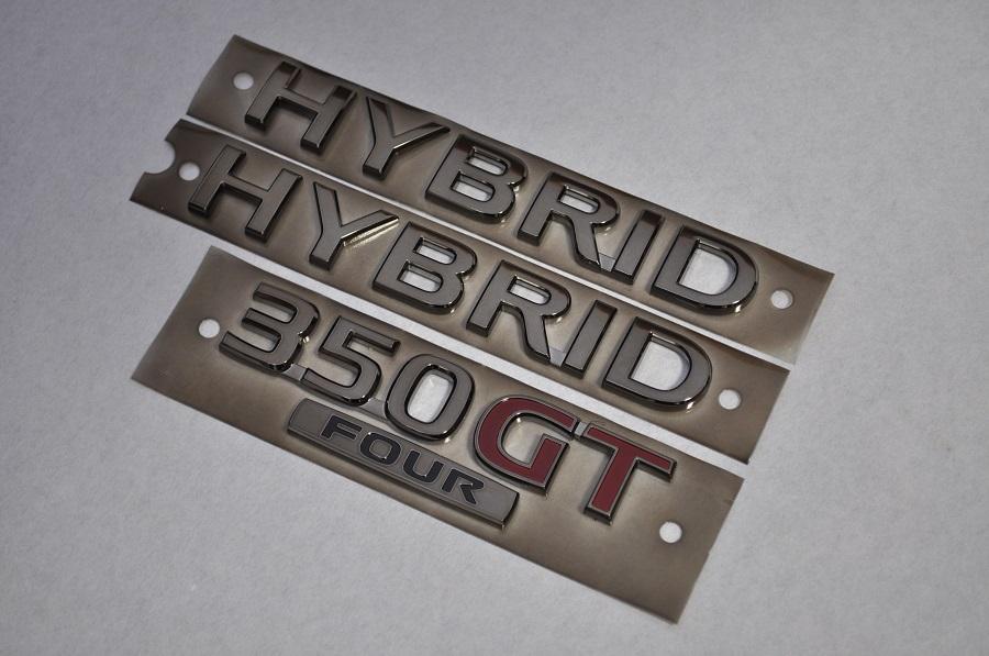 V37 スカイラインハイブリッド 4WD HNV37 ブラックメッキエンブレムリア3点SET  純正/メッキ/カラーメッキ/セット/単品/車/車パーツ/カーパーツ/高品質/送料無料