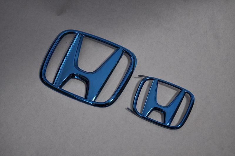 JF1/2 N BOX スラッシュ ブルーメッキエンブレムフロント・リアHマーク2点SET  純正/メッキ/カラーメッキ/セット/単品/車/車パーツ/カーパーツ/高品質/送料無料