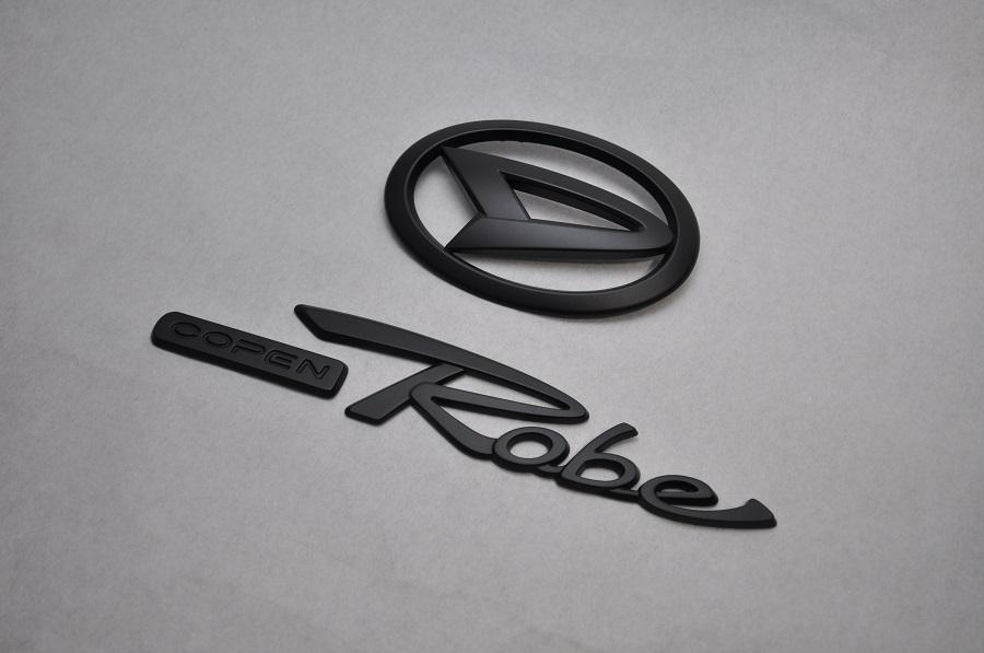 LA400K コペンローブ マットブラックエンブレム(艶消し) リア2点SET  純正/メッキ/艶消し/黒/セット/単品/車/車パーツ/カーパーツ/高品質/送料無料
