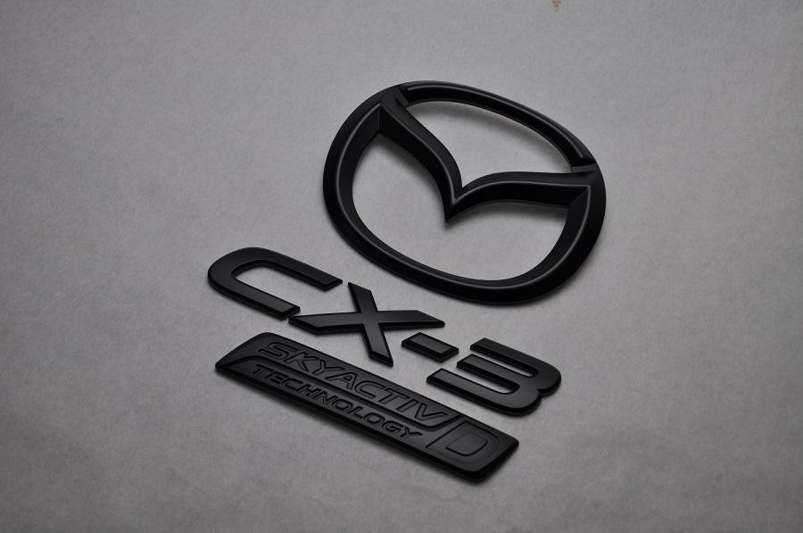DK5FW/DK5AW CXー3 マットブラックエンブレム(艶消し) リア3点SET  純正/メッキ/艶消し/黒/セット/単品/車/車パーツ/カーパーツ/高品質/送料無料
