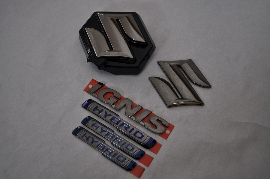 FF21S イグニス ブラックメッキエンブレム6点セット  純正/メッキ/カラーメッキ/セット/単品/車/車パーツ/カーパーツ/高品質/送料無料