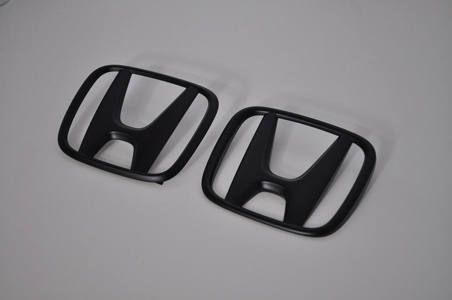 S660 JW5 マットブラックエンブレム(艶消し) フロント/リアHマーク2点SET  純正/メッキ/艶消し/黒/セット/単品/車/車パーツ/カーパーツ/高品質/送料無料