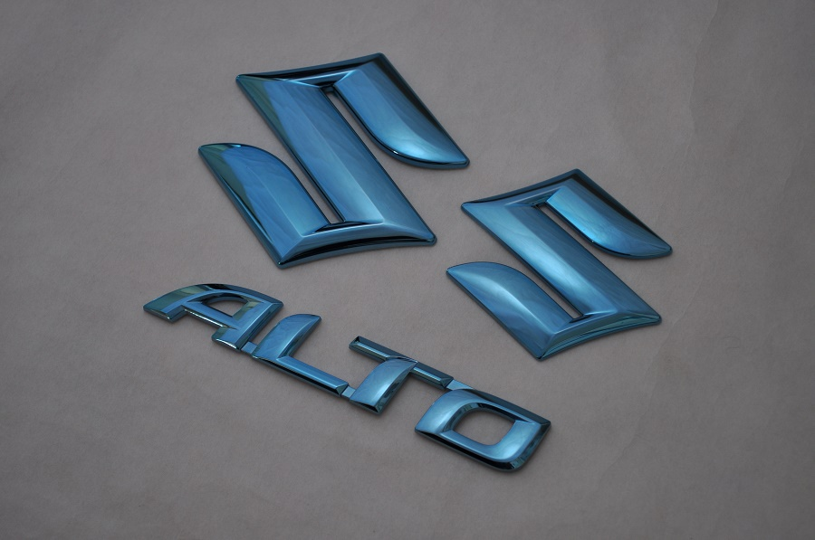 HA36S アルト ブル-メッキエンブレム3点SET  純正/メッキ/カラーメッキ/セット/単品/車/車パーツ/カーパーツ/高品質/送料無料