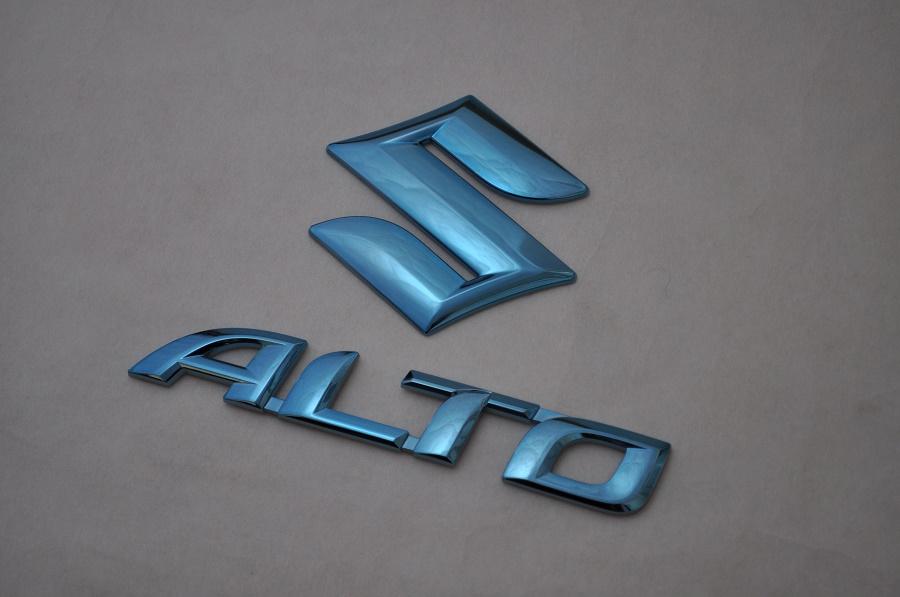 HA36S アルト ブル-メッキエンブレム リア2点SET  純正/メッキ/カラーメッキ/セット/単品/車/車パーツ/カーパーツ/高品質/送料無料