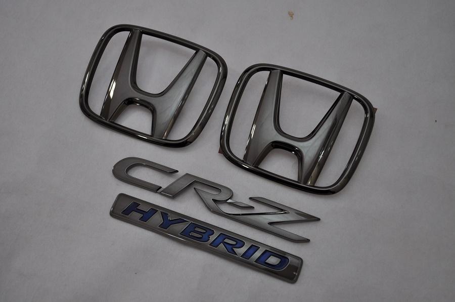 ZF2 CRーZハイブリッド ブラックメッキエンブレム4点SET  純正/メッキ/カラーメッキ/セット/単品/車/車パーツ/カーパーツ/高品質/送料無料
