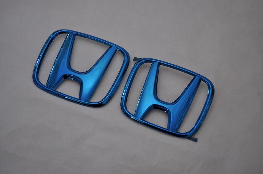 RP ステップワゴンスパーダ RP3/4 ブルーメッキエンブレムフロント/リアHマーク2点SET  純正/メッキ/カラーメッキ/セット/単品/車/車パーツ/カーパーツ/高品質/送料無料