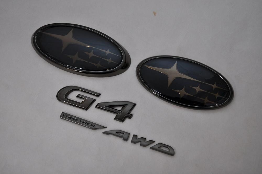 GK インプレッサG4 GK2/3 GK6/7 ブラックエンブレム4点SET  純正/メッキ/カラーメッキ/セット/単品/車/車パーツ/カーパーツ/高品質/送料無料