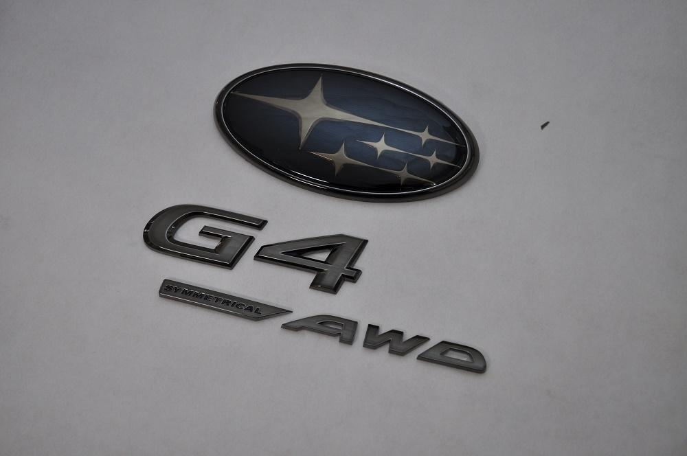 GK インプレッサG4 GK2/3 GK6/7 ブラックエンブレムリア3点SET  純正/メッキ/カラーメッキ/セット/単品/車/車パーツ/カーパーツ/高品質/送料無料