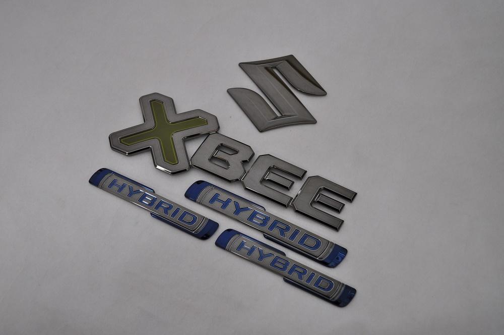 MN71S XBEE クロスビー ブラックメッキエンブレムリア5点SET  純正/メッキ/カラーメッキ/セット/単品/車/車パーツ/カーパーツ/高品質/送料無料