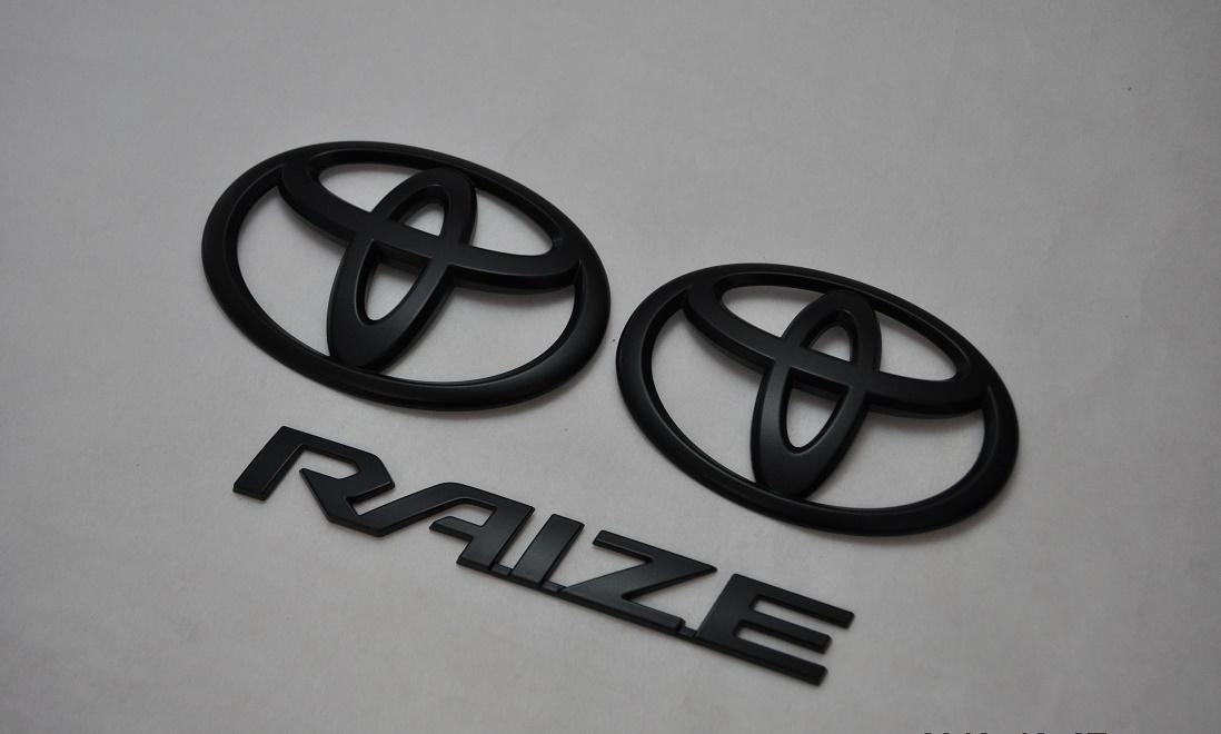 A200A/A210A RAIZE ライズ マットブラックエンブレム(艶消し) 3点SET  純正/メッキ/艶消し/黒/セット/単品/車/車パーツ/カーパーツ/高品質/送料無料