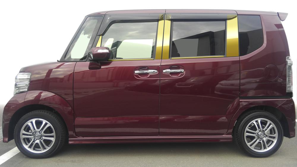 【最鏡面】JF1/2系 NBOX (カスタム共通) ステンレスピラー鏡面HYPERゴールド ピラー/ホンダ/車/車パーツ/ピラーパネル/ステンレス/高品質/送料込み
