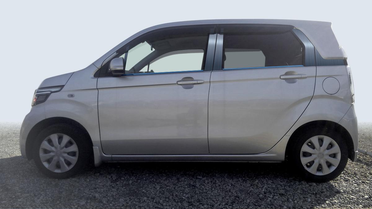 【ハイクオリティー】NーWGN JH1/2 カスタム共通 ステンレスピラーヘアラインブルー ピラー/ホンダ/車/車パーツ/ピラーパネル/ステンレス/高品質/送料込み