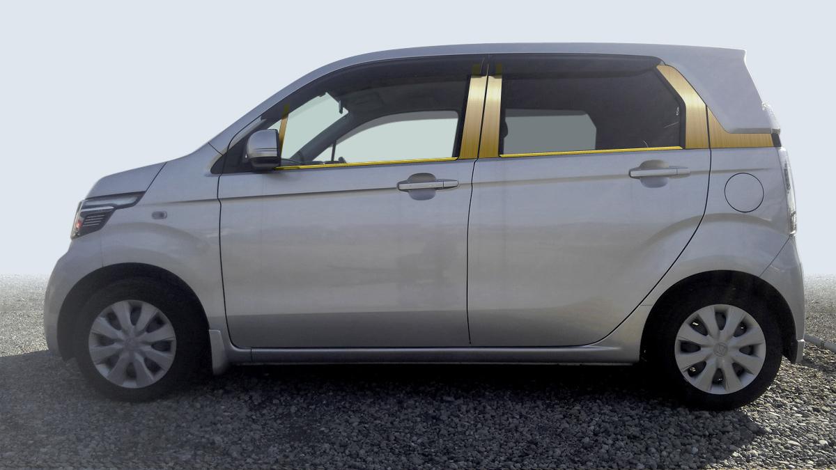 【ハイクオリティー】NーWGN JH1/2 カスタム共通 ステンレスピラーヘアラインゴールド ピラー/ホンダ/車/車パーツ/ピラーパネル/ステンレス/高品質/送料込み