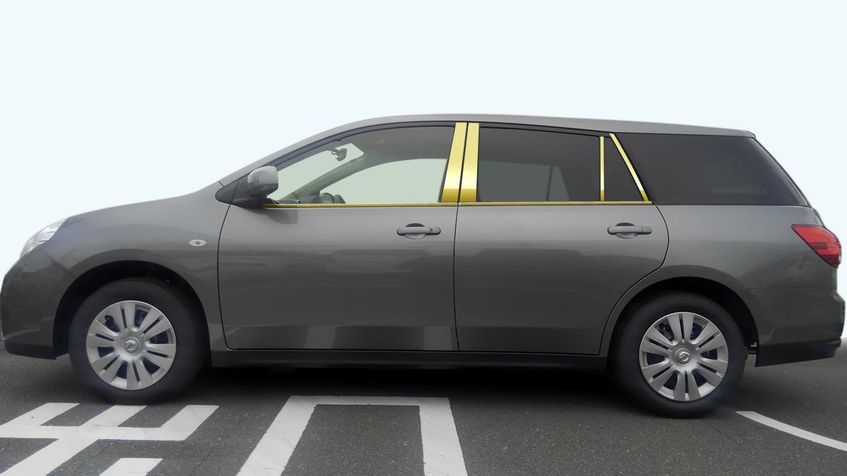 【最鏡面】Y12ウィングロード ステンレスドアモール 鏡面 ゴールド 純研磨/車/車パーツ/モール/ステンレス/高品質/送料込み