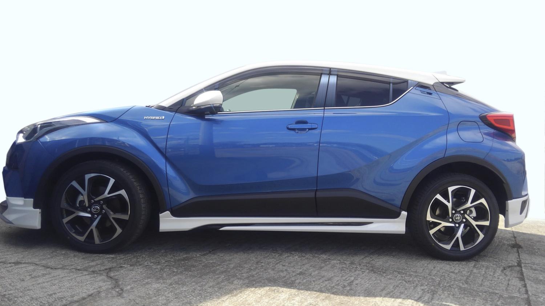 【ハイクオリティー】ZYX10 NGX50 C-HR ステンレスピラーヘアラインブルー ピラー/トヨタ/車/車パーツ/ピラーパネル/ステンレス/高品質/送料込み