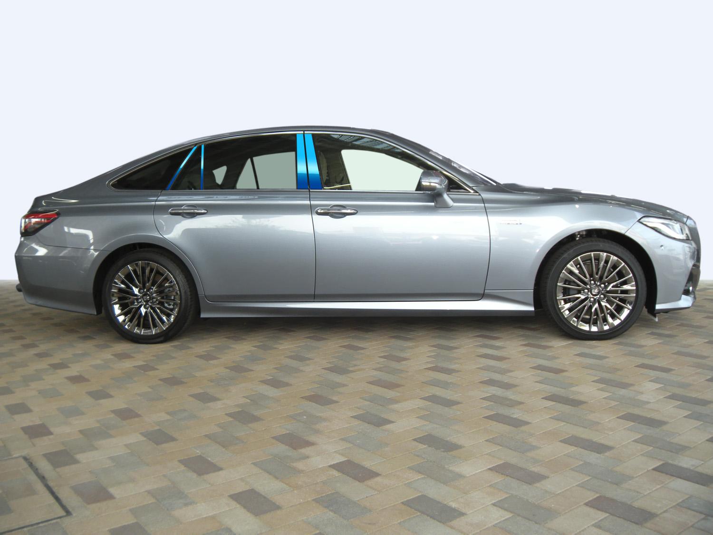 【最鏡面】AZSH20/AZSH21/ARS220/GWS224 クラウン ステンレスピラー鏡面HYPERブルー ピラー/鏡面/ヘアライン/トヨタ/車/車パーツ/ピラーパネル/ステンレス/高品質/送料無料