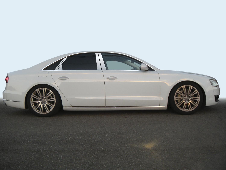 【ハイクオリティー】アウディ A8 4HC*** ステンレスピラーヘアライン ピラー/アウディ/車/車パーツ/ピラーパネル/ステンレス/高品質/送料込み