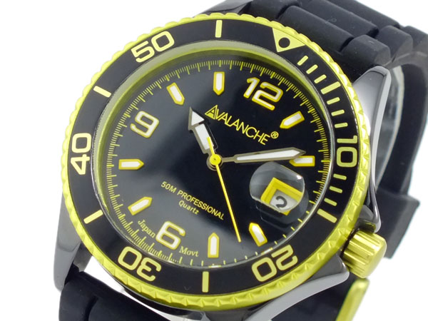 (~4/30)【キャッシュレス5%】アバランチ AVALANCHE 腕時計 AV-1017CER-YW ユニセックス