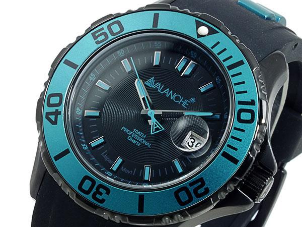 (~8/31) アバランチ 腕時計 AVALANCHE メンズ 腕時計 AV-1023S-GR ブラック×グリーン AVALANCHE メンズ, カムカム:3c83e809 --- officewill.xsrv.jp