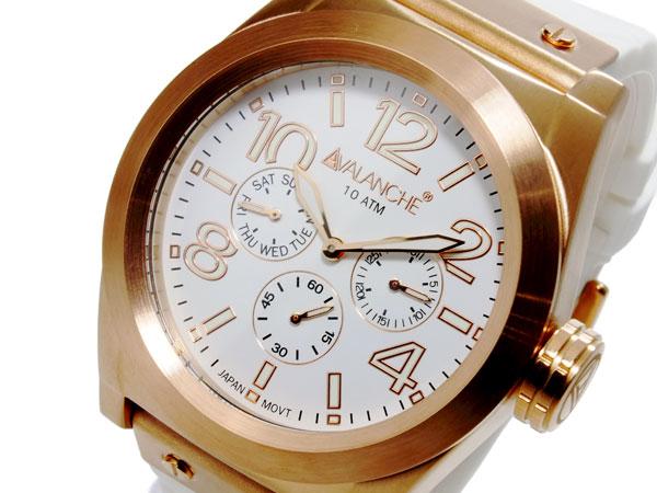 【スーパーSALE】(~9/11 01:59)(~9/30)アバランチ AVALANCHE クオーツ メンズ 腕時計 AV1027-WHRG