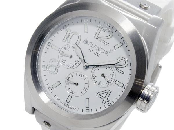 (~8 メンズ/31) アバランチ AVALANCHE クオーツ 腕時計 AV1027-WHSIL AVALANCHE クオーツ メンズ, アサヒムラ:6f7948a4 --- officewill.xsrv.jp