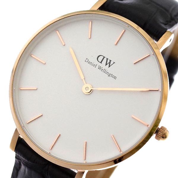 【スーパーSALE】(~9/11 01:59)(~9/30)ダニエルウェリントン DANIEL WELLINGTON 腕時計 DW00100173 クラシックペティート CLASSIC PETITE 32MM READING クォーツ ホワイト ブラック レディース