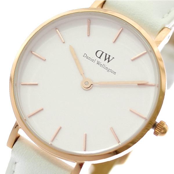 【スーパーSALE】(~9/11 01:59)(~9/30)ダニエルウェリントン DANIEL WELLINGTON 腕時計 DW00100249 クラシックペティート CLASSIC PETITE 28MM BONDI クォーツ ホワイト レディース