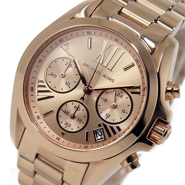 【スーパーSALE】(~9/11 01:59)(~9/30)マイケルコース MICHAEL KORS クオーツ クロノグラフ 腕時計 MK5799 ピンクゴールド レディース