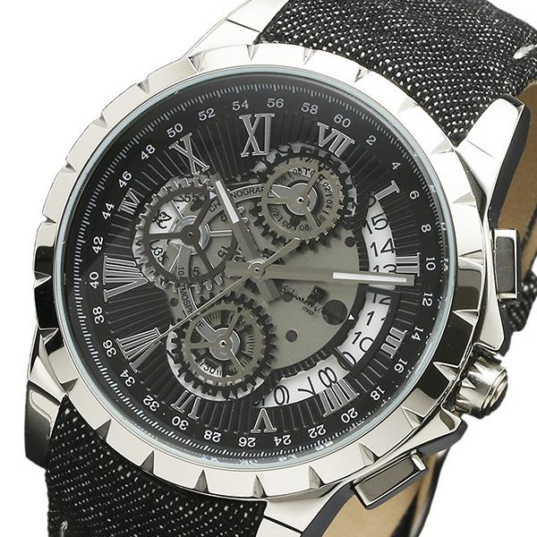 (~8/31) サルバトーレマーラ SALVATORE MARRA クロノグラフ MARRA クロノグラフ クオーツ クオーツ 腕時計 SM13119D-SSBKBK ブラック メンズ, パラニーニョ フォーマルスタイル:0c19b647 --- officewill.xsrv.jp