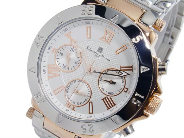 (~8/31) 腕時計 SM14118-PGWH サルバトーレマーラ SALVATORE MARRA MARRA クオーツ メンズ 腕時計 SM14118-PGWH, ブランド古着の買取販売STAY246:936e807a --- officewill.xsrv.jp
