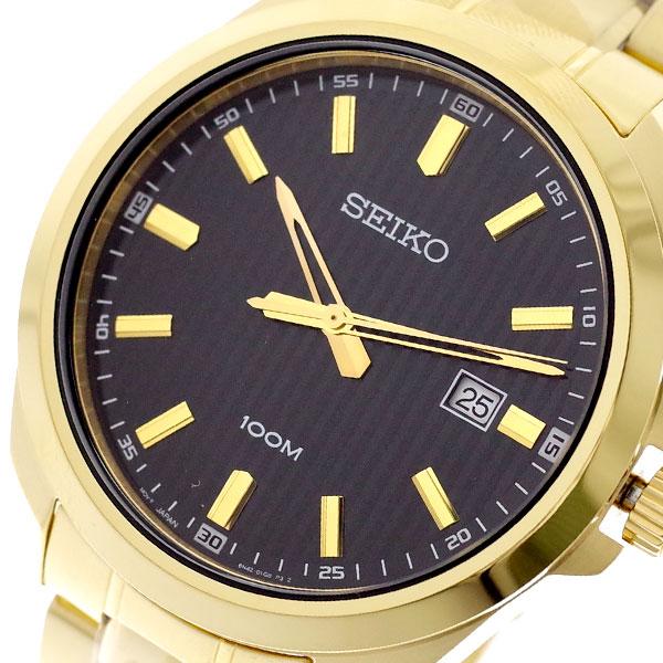 【スーパーSALE】(~9/11 01:59)(~9/30)セイコー SEIKO 腕時計 SUR282P1 クォーツ ブラック ゴールド メンズ