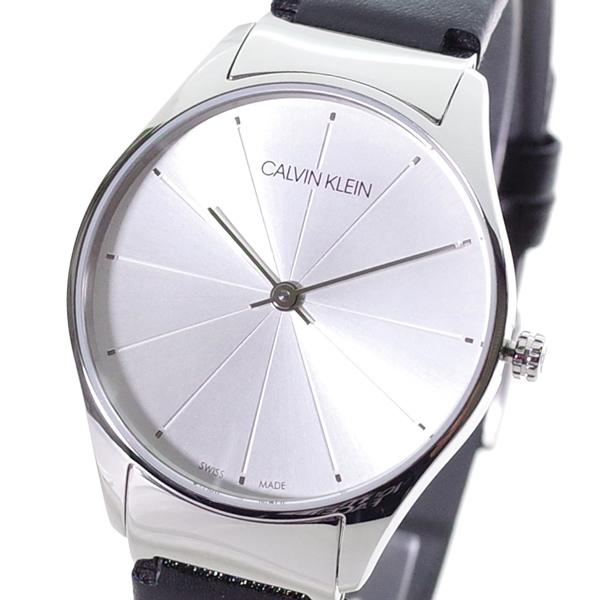 【スーパーSALE】(~9/11 01:59)(~9/30)カルバンクライン CALVIN KLEIN 腕時計 K4D221C6 クラシック トゥー CLASSIC TOO クォーツ シルバー ブラック レディース