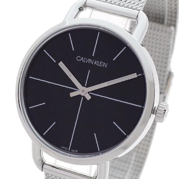 【スーパーSALE】(~9/11 01:59)(~9/30)カルバンクライン CALVIN KLEIN 腕時計 K7B23121 イーブンエクステンション EVEN EXTENSION クォーツ ブラック シルバー レディース