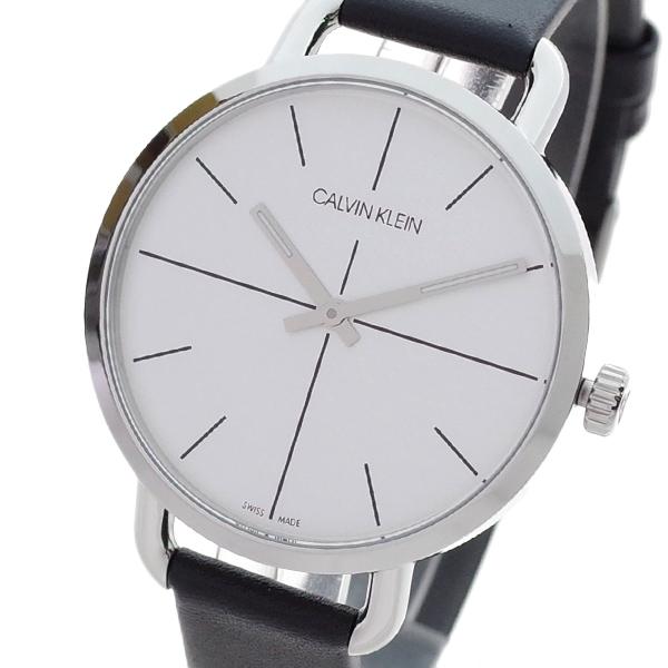 (~4/30)【キャッシュレス5%】カルバンクライン CALVIN KLEIN 腕時計 K7B231CY イーブンエクステンション EVEN EXTENSION クォーツ シルバー ブラック レディース