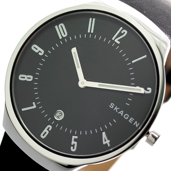 【スーパーSALE】(~9/11 01:59)(~9/30)スカーゲン SKAGEN 腕時計 SKW6459 グレーネン GRENEN クォーツ ブラック メンズ