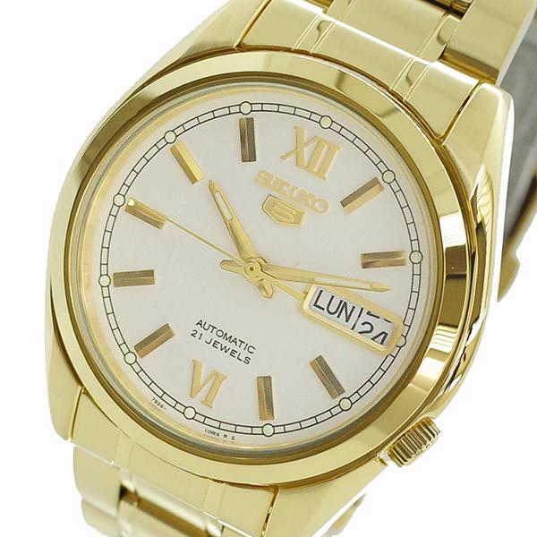 【スーパーSALE】(~9/11 01:59)(~9/30)セイコー SEIKO 腕時計 SNKL58K1 セイコー5 SEIKO 5 自動巻き ホワイト ゴールド ユニセックス