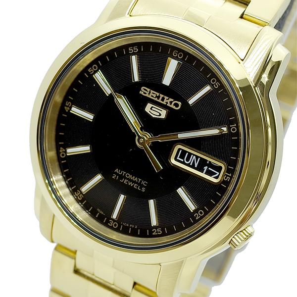 (~8/31) セイコー SEIKO SEIKO 腕時計 SNKL88K1 ブラック セイコー5 SEIKO 5 セイコー5 自動巻き ブラック ゴールド ユニセックス, 素晴らしい外見:ad68c96d --- officewill.xsrv.jp