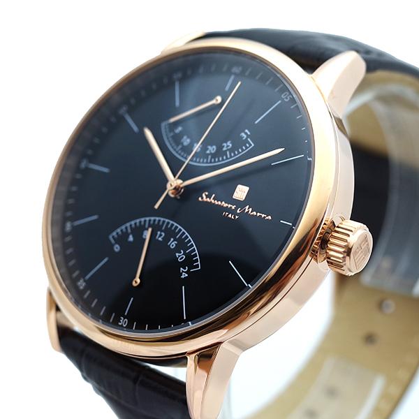(~8 ブラック/31) サルバトーレマーラ SALVATORE MARRA 腕時計 SM19105-PGBK (~8/31) クォーツ クォーツ ブラック メンズ, STADIUM:fd27723a --- officewill.xsrv.jp