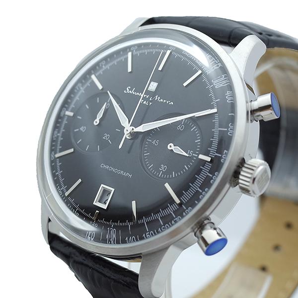 【スーパーSALE】(~9/11 01:59)(?9/30) サルバトーレマーラ SALVATORE MARRA 腕時計 SM19106-SSBK クォーツ ブラック メンズ