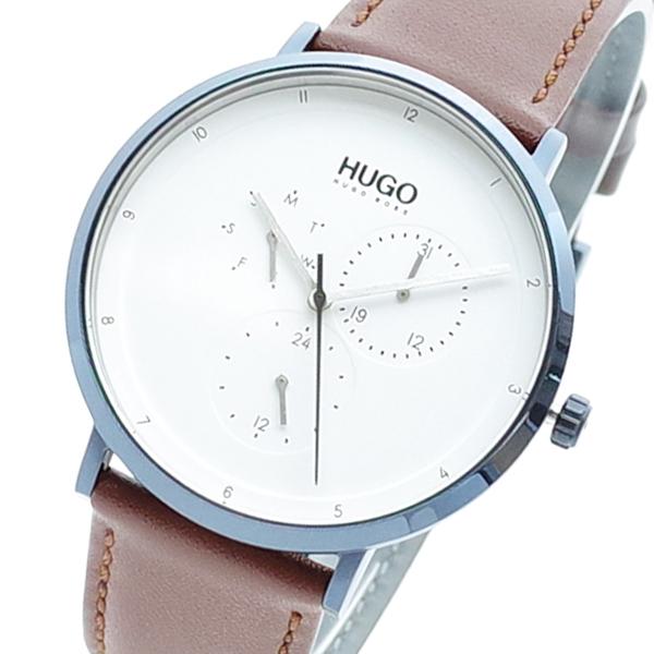 【スーパーSALE】(~9/11 01:59)(~9/30)ヒューゴボス HUGO BOSS 腕時計 1530008 クォーツ ホワイト ブラウン メンズ