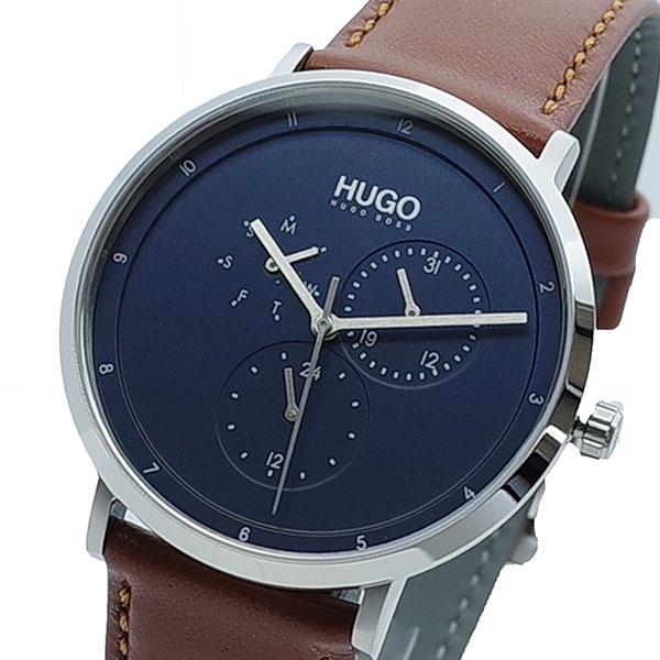 【スーパーSALE】(~9/11 01:59)(~9/30)ヒューゴボス HUGO BOSS 腕時計 1530032 クォーツ ネイビー ブラウン メンズ