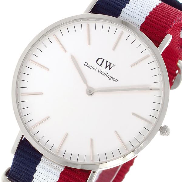 (~4/30)【キャッシュレス5%】ダニエル ウェリントンDaniel Wellington ケンブリッジ/シルバー 40mm クオーツ 腕時計 0203DW メンズ