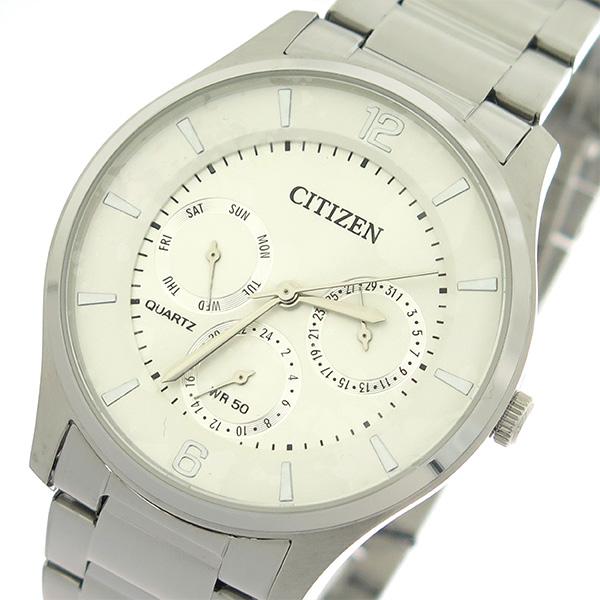 (~4/30)【キャッシュレス5%】シチズン CITIZEN クオーツ 腕時計 AG8351-86A ホワイトシルバー/シルバー メンズ