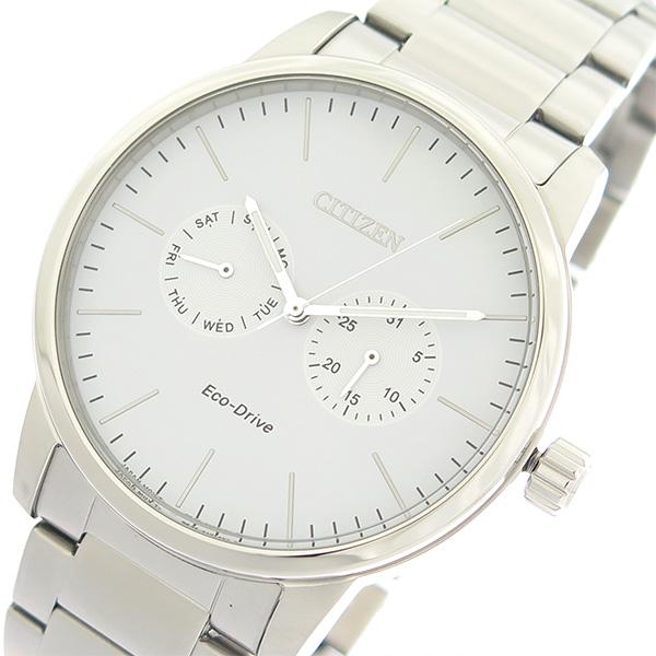 (~4/30)【キャッシュレス5%】シチズン CITIZEN エコ・ドライブ Eco-Drive クオーツ 腕時計 AO9040-52A ホワイト/シルバー メンズ